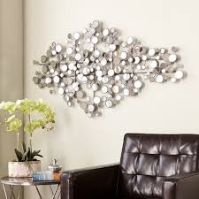 large metal and mirror wall art