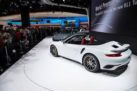 porsche 911 turbo 2016. 911 turbo und s north american international auto show detroit 2016 porsche e