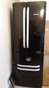 hotpoint black double door fridge freezer