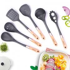 fasaka best wood handle nylon kitchen cooking utensil sets