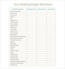 wedding budget template for excel wedding budget template 13 free word excel pdf documents