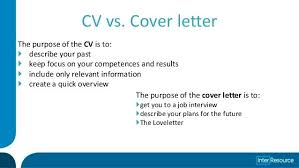 purpose of a resume vs cover letter general purpose graduate resume