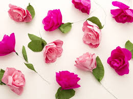 How To Make Flower Paper How To Make A Diy Paper Flower Garland