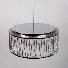 10 light crystal chandelier with drum shade chrome