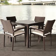 Rattan Kitchen Furniture Wicker Rattan Outdoor Dining Table And Chairs Furniture Setting