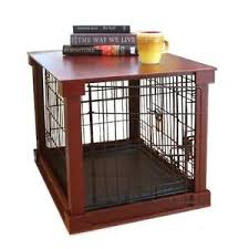 Furniture Pet Crate Dog Kennel Wood Size Cage Wooden End