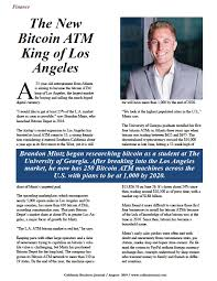 The New Bitcoin ATM King of Los Angeles - California Business Journal