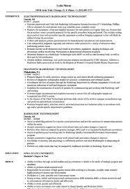 Radiologic Technologist Resume New Radiologic Technologist Resume