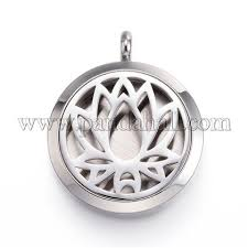 Wholesale 316 <b>Stainless Steel</b> Diffuser Locket Pendants, with ...