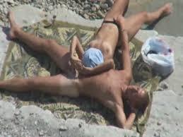 Amateur voyeur couple beach fucking