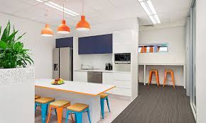 office kitchen design. Funky Custom Kitchen Design For Newcastle Corporate Office And Fitout. Breakout Space Features Multiple