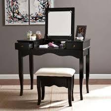 black makeup vanity with drawers. calla 2-piece black makeup vanity with drawers