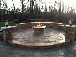 raised patio pavers. Raised Patio With Columns, Knee Wall \u0026 Fire Pit Pavers
