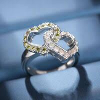 <b>2ps</b>/<b>set Princess</b> White Sapphire 925 <b>Silver</b> Rings Set Bride ...