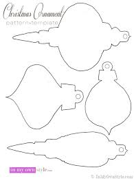 Christmas Ornament Pattern to cut out semi handmade christmas ornaments in my own style on christmas newsletter template free pdf