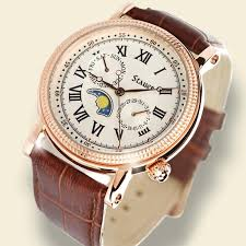 stauer rose gold finished moon phase watch 20390 stauer com stauer rose gold finished moon phase watch 20390 stauer com