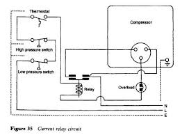 current relay refrigerator troubleshooting diagram current relay circuit