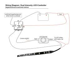 help wiring tail light on motorcycle oznium forum Lighting Relay Wiring Diagram s www oznium com images wiring_diagrams led_dimmer led_dimmer_negative jpg lighting relay panel wiring diagram