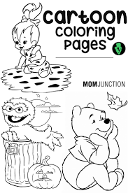 15 Random Cartoon Coloring Pages Your