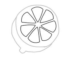 レモンのボールペンイラストの簡単な書き方 Create Club