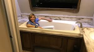 rv comes with a big soaking bathtub