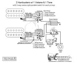 Wiring Diagrams For Split Humbuckers 1 Volume 1 Tone 1 Humbucker 1 Volume 1 Tone Dimarzioo