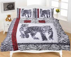 3d tiger black bedding set