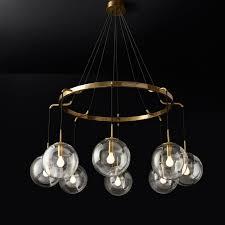 post modern minimalist glass ball restaurant chandelier hanging lamps