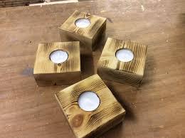diy wooden pallet candle holder