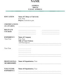 Printable Resume Format Inspiration Printable Job Resume Form