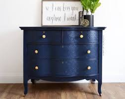 blue antique furniture. SOLD Navy Blue Dresser Gold Knobs - Antique Furniture Serpentine Coffee Bar Buffet Farmhouse French Country Painted