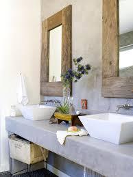 Modern Bathroom Mirror Frames Two Wood Frame Mirrors Modern Bathroom