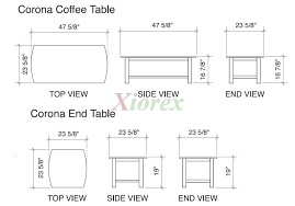 best coffee table size guide small apartment tables