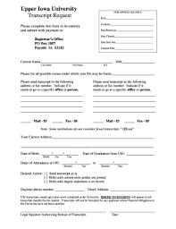 Upper Iowa University Transcript Request Form - Fill Online ...