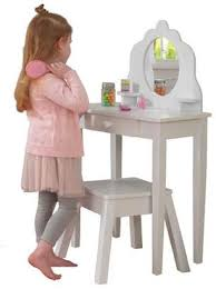 kid kraft medium wooden vanity stool white children s furniture kid s bedroom storage