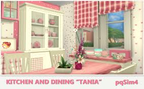 """Kitchen and Dining """"Tania"""". Sims 4 Custom Content."""