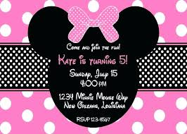 free minnie mouse invitation template mouse invitation template free photo birthday invitations intended