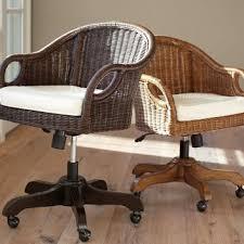 rattan office chair. wingate rattan swivel desk chair photo 2 office