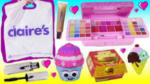claire s haul cheeseburger makeup pucker pops blind bag squishy lip balm maa beauty review you