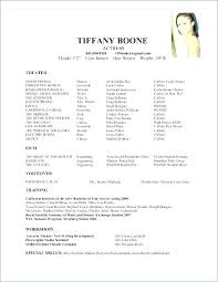 Musical Theater Resume Template Awesome Musical Theatre Resume Template Download Actors Word Performer