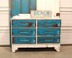 beachy furniture. paintedfurniturebluewhitestencilednumbers beachy furniture