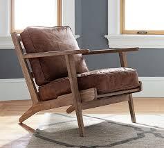 raylan leather armchair pottery barn