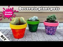 decorate plant pots three painting
