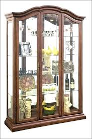display cabinet with glass doors contemporary curio cabinets wall modern white corner c