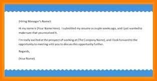 How To Write Email With Cover Letter And Resume Attached Writing An