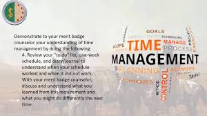 Personal Management Merit Badge Requirement 8