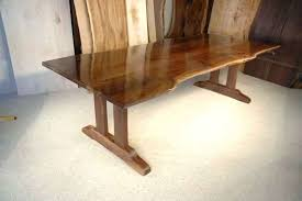 reclaimed trestle dining table rustic walnut slab custom trestle dining table 20th c reclaimed pine trestle