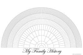Ancestor Fan Chart Free Printable Family Tree Fan Chart Printable Blank Family