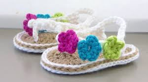 Crochet Baby Sandals Pattern Interesting Crochet Baby Sandals Tutorial YouTube