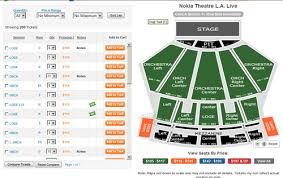 Nokia Center Seating Chart Theater Seat Views Online Charts Collection